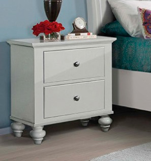 Elements Chatham White Nightstand