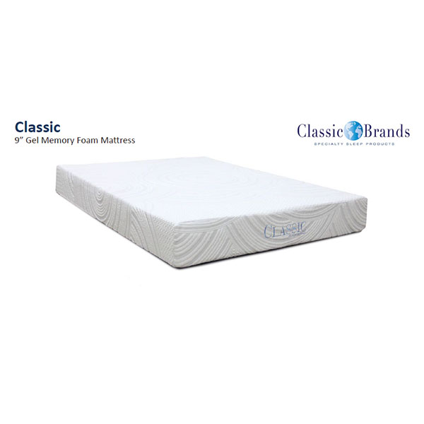 Classic Brands Darlington 9 Inch Gel Memory Foam Twin XL Mattress