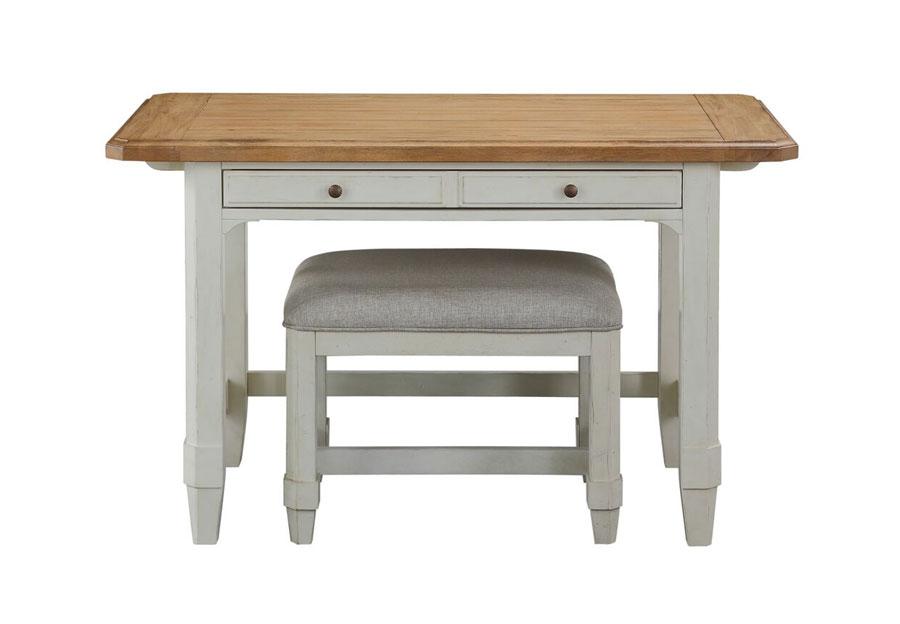 Panama Jack Millbrook Writing Desk and Bench 2 pc Set