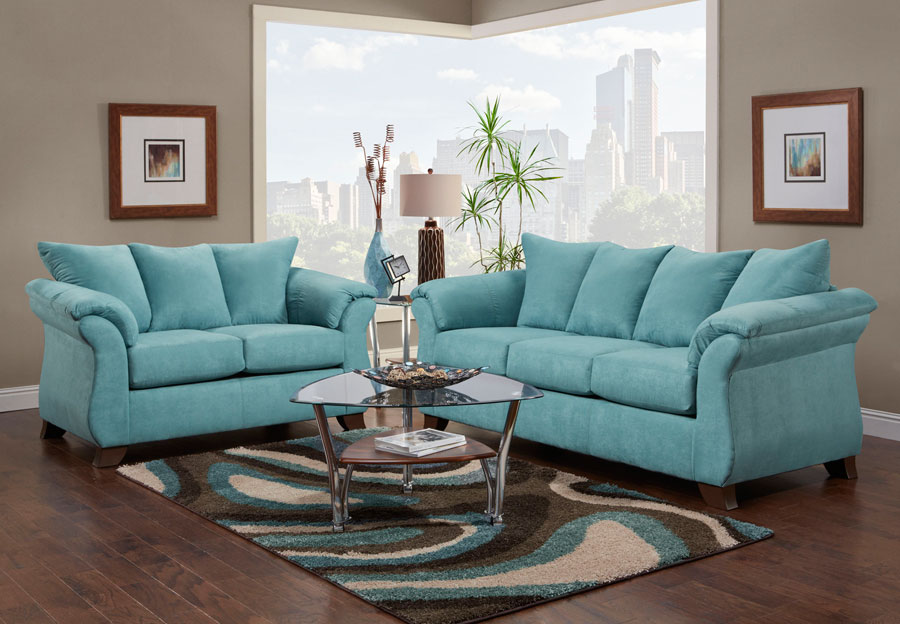 Affordable Sensations Capri Queen Sleeper Sofa and Loveseat 2 pc Set