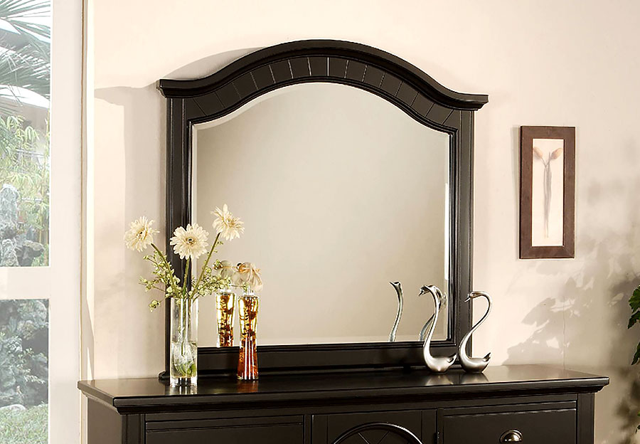 Elements Brook Black Landscape Mirror