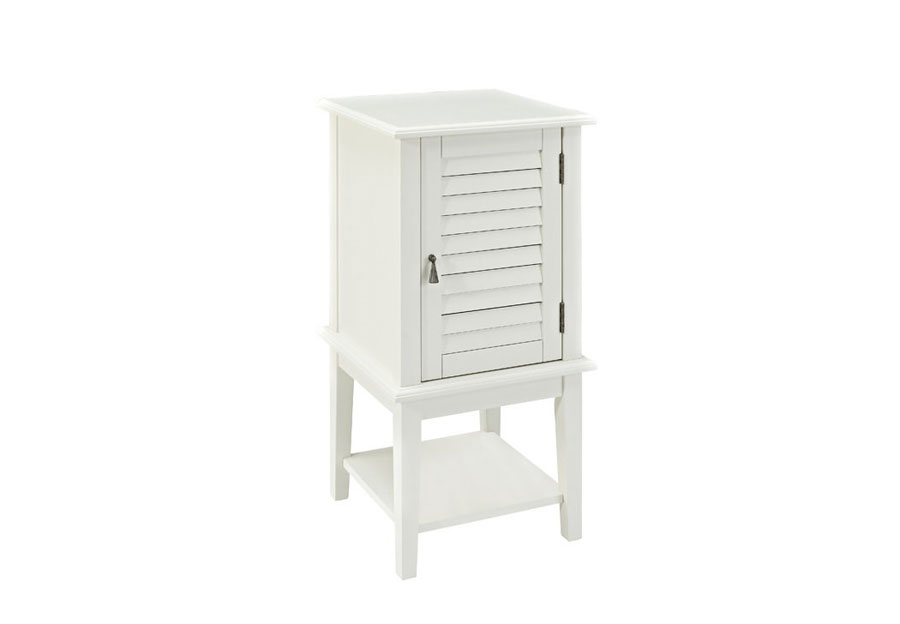 Powell Furniture Shutter Door Table in White