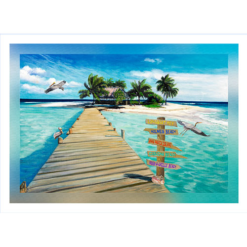 Island Dock with Beach Signs 20 x 30 Bradenton