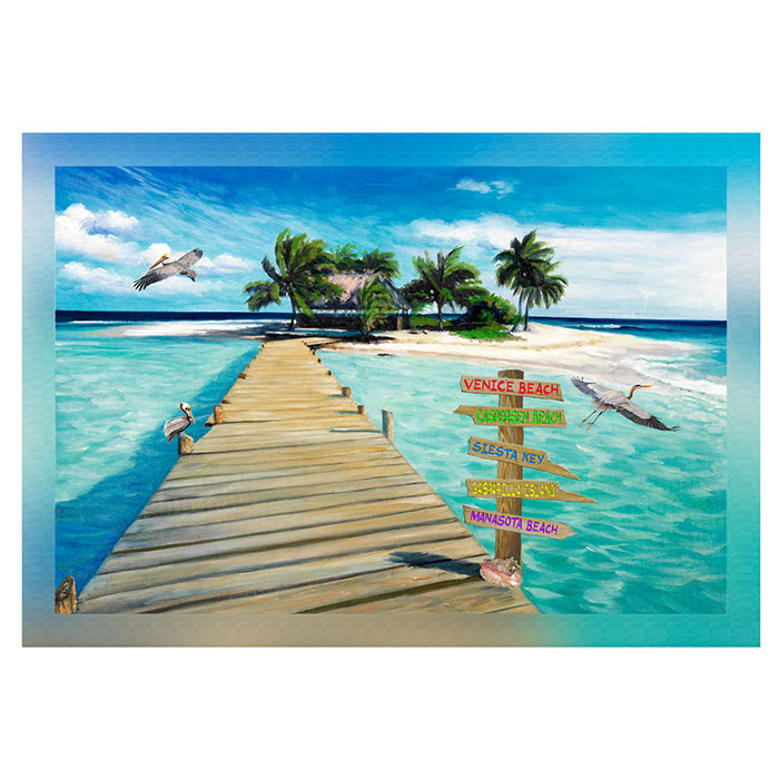 Island Dock with Beach Signs 20 x 30 Venice