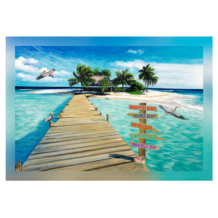 Island Dock with Beach Signs 20 x 30 Port Charlotte
