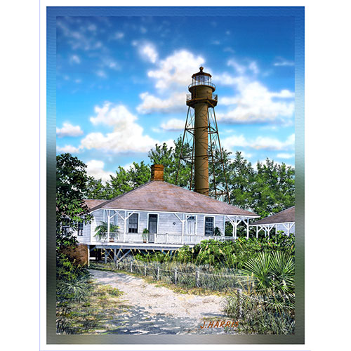 Sanibel Lighthouse 36 x 48 Canvas