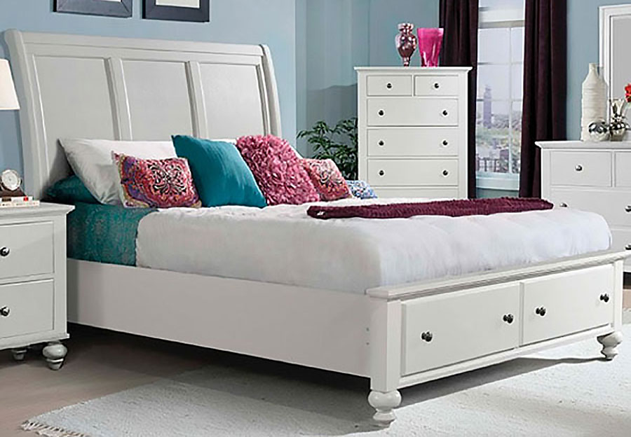 Elements Chatham White King Complete Storage Bed