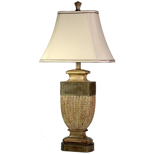 StyleCraft Comberland Finish and Cut Corner Traditional Lamp