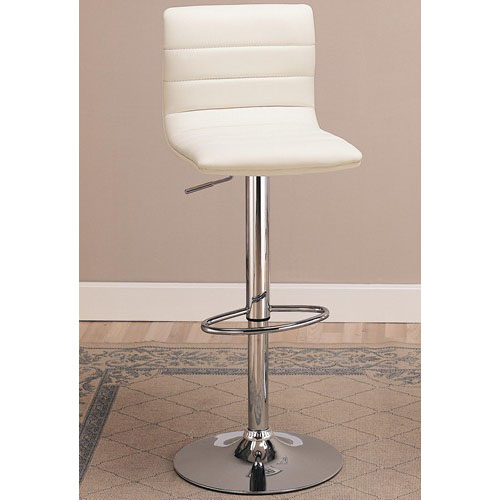 Coaster Adjustable Ribbed Back Bar Stool