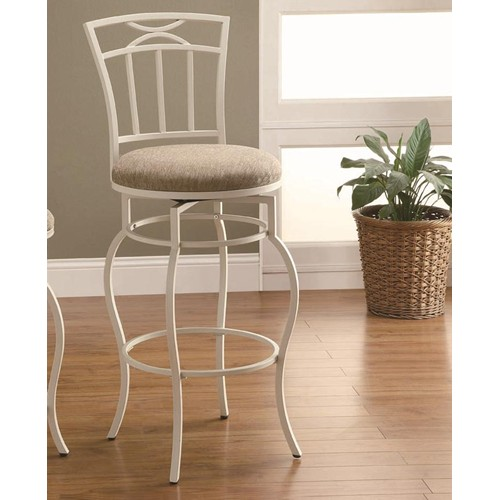 Coaster Iron Bar Stool in Ivory