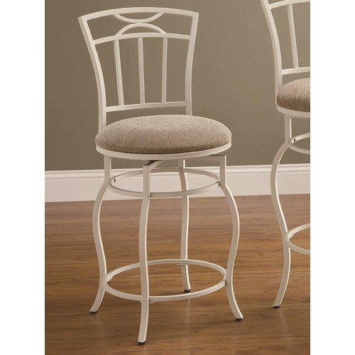 Coaster Iron Counter Stool in Ivory