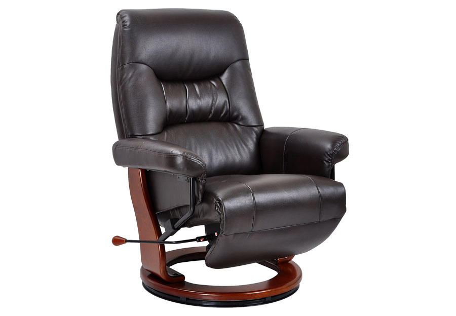 Benchmaster Swivel Reclining Chair in Java Breathable Fabric