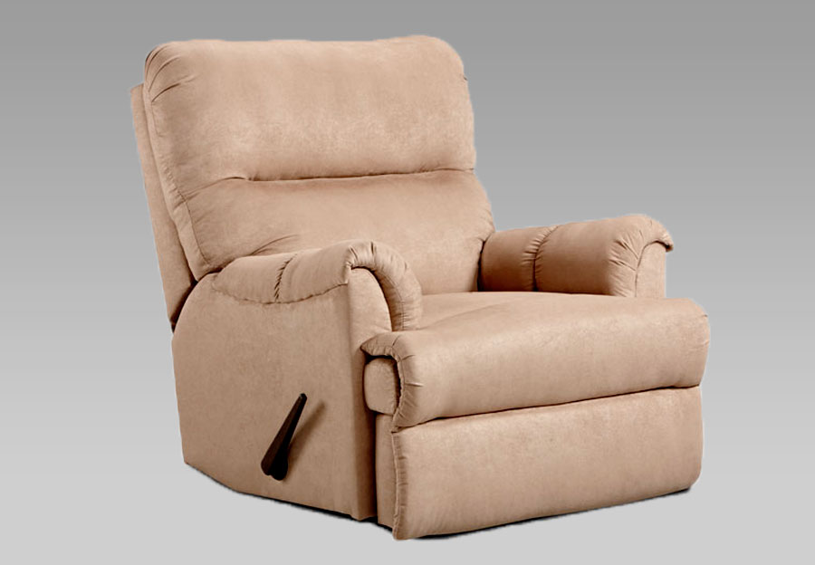 Affordable Sensations Camel Microfiber Recliner