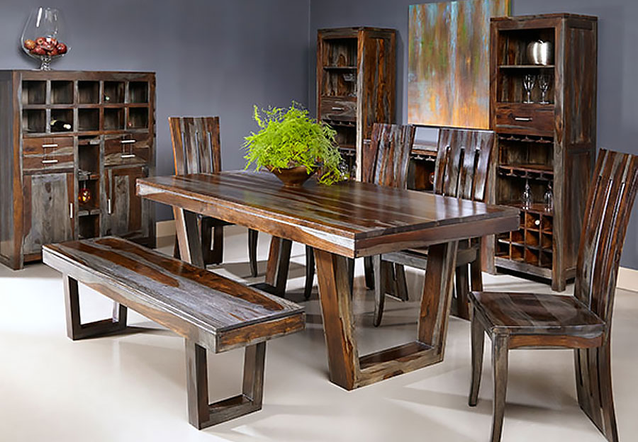 Coast To Coast Grayson Sheesham 5pc Dining Set With Table And Four Side  Chairs