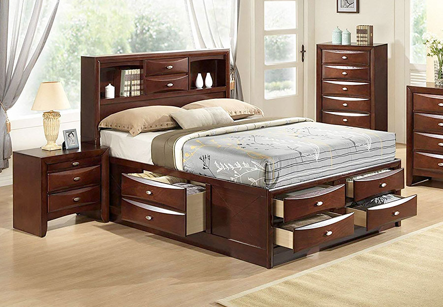 Elements Emily 4pc Complete King Storage Bed