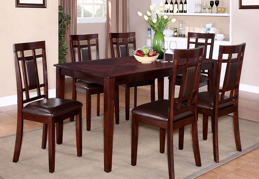 Lifestyles Westlake 7pc Dining Set, Espresso