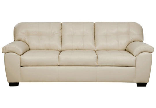 Simmons SoHo Pearl Showtime Breathable Leather Queen Sleeper Sofa