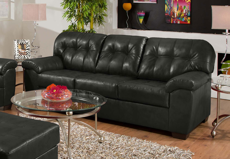 Simmons SoHo Onyx Showtime Breathable Leather Sofa