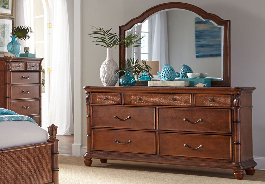 Panama Jack Brown Isle of Palms Seven Drawer Dresser