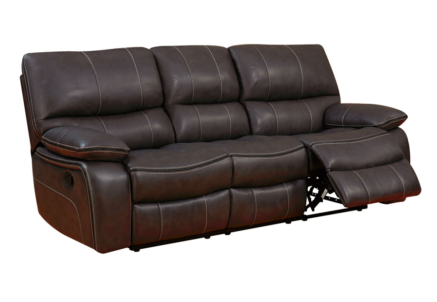 Global Agnes Espresso Power Reclining Sofa in Leather Gel
