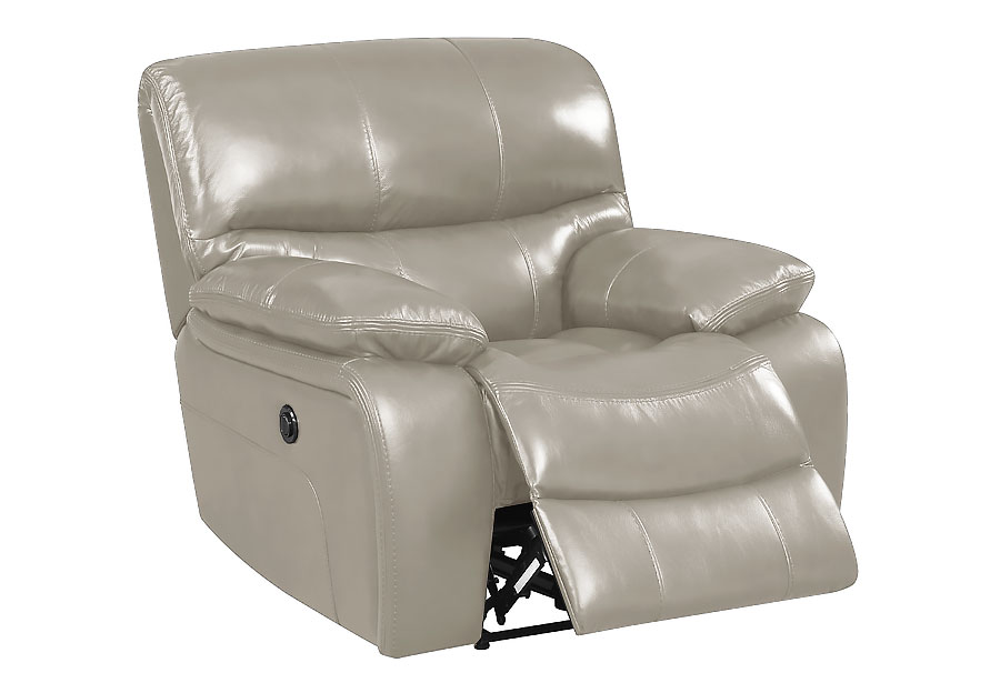 Elements Vino Power Recliner - Cream Leather Match