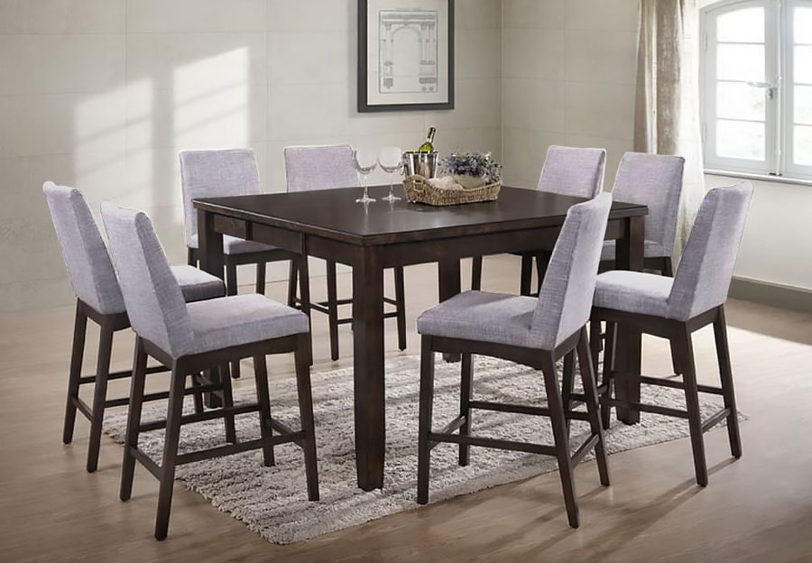 Elements Piper Counter Height Table and Four Chairs