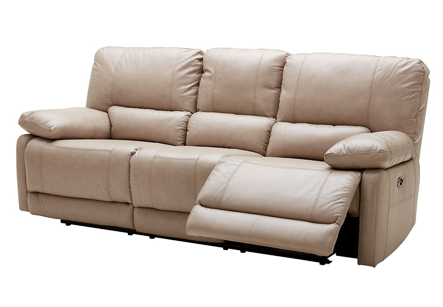 Kuka Maui Sand Power Reclining Sofa Leather Match