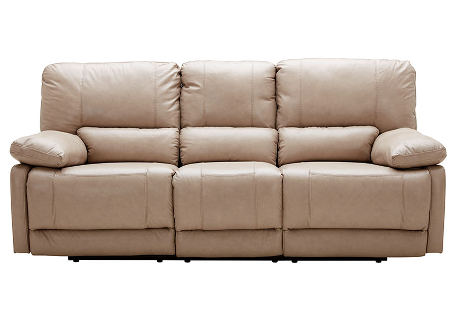 The furniture warehouse beautiful home furnishings at for Sand leather sofa