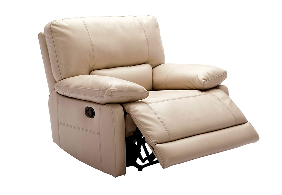 Kuka Maui Sand Recliner Leather Match