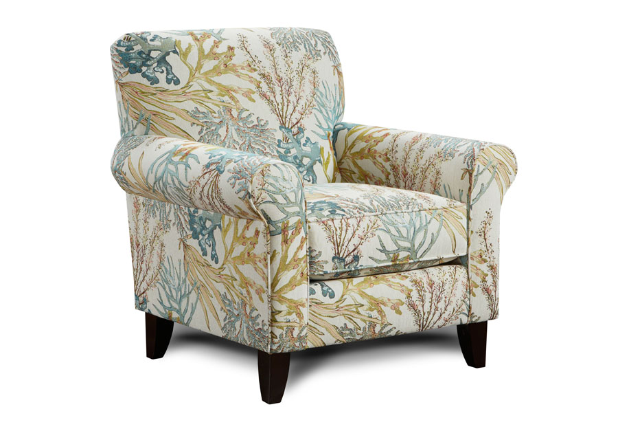 Fusion Labyrinth Coral Reef Caribbean Accent Chair