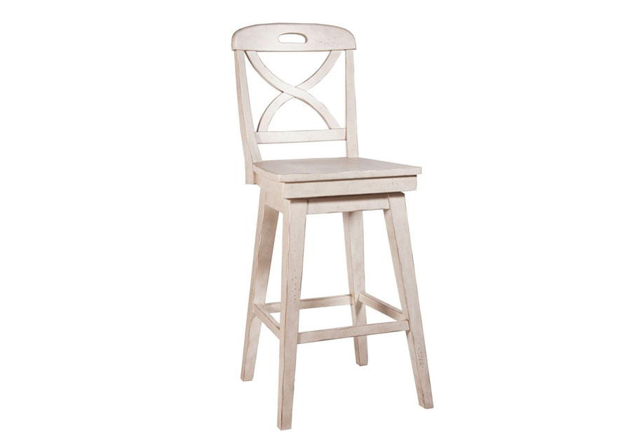 Panama Jack Millbrook Cream Swivel Barstool