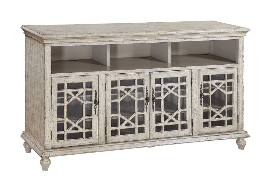 Coast to Coast Cream Four Door Media Credenza