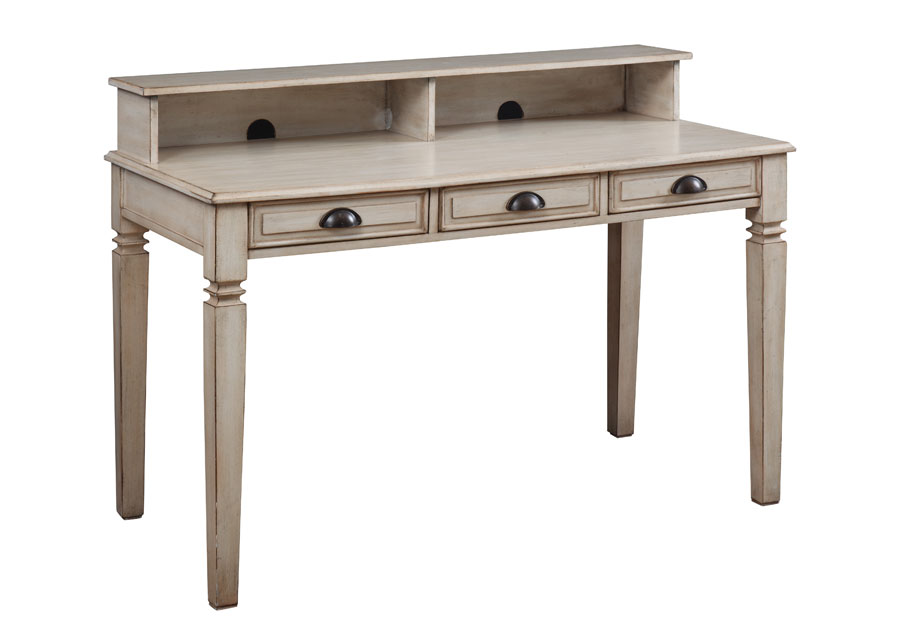 Coast To Coast Ivory Writing Desk with Hutch