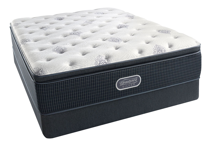 Simmons Beautyrest Chesapeake Silver Plush Pillowtop Mattress-Queen
