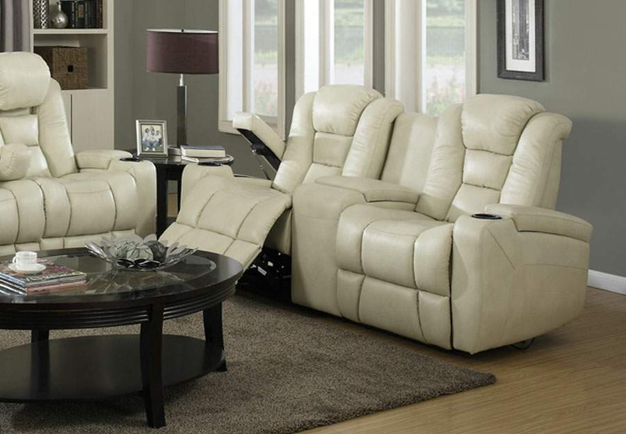 Trend Transformer Cream Power Reclining Console Loveseat