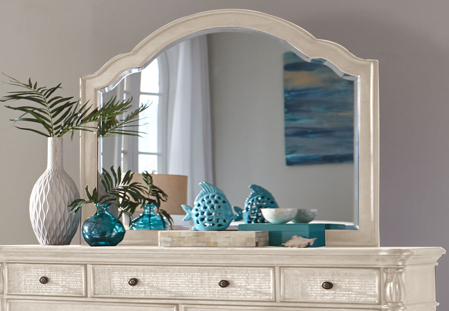 Panama Jack White Isle of Palms Landscape Mirror