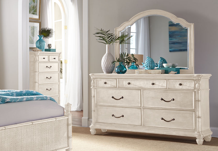 Panama Jack White Isle of Palms Seven Drawer Dresser