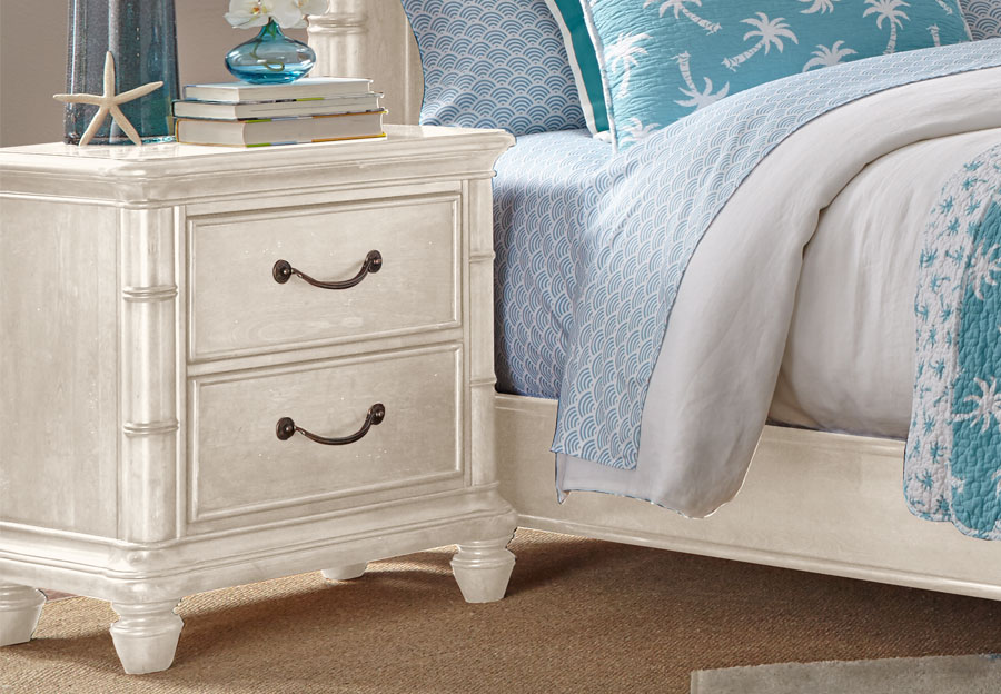 Panama Jack White Isle of Palms Two Drawer Nightstand