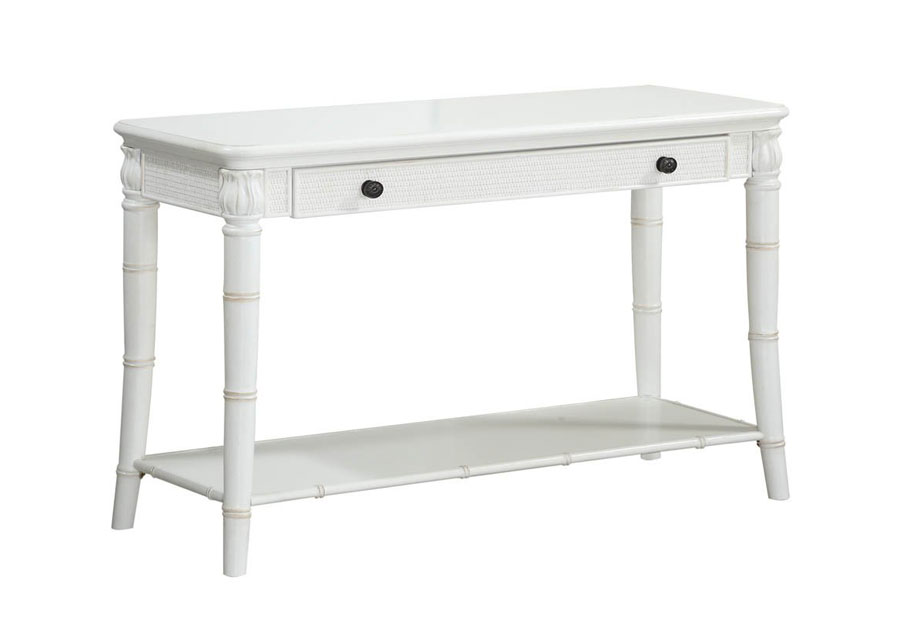 Panama Jack Isle of Palm White Console Table