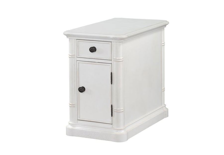 Panama Jack Isle of Palm White Chairside Table