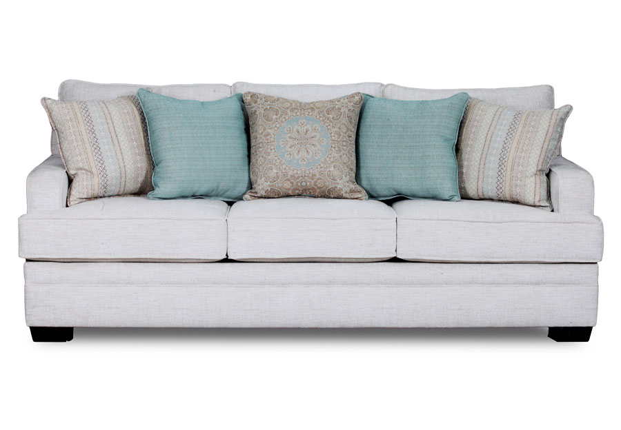 Great Simmons Beautyrest Celine Parchment Sofa With Colonade Foundation, Jasper  Spa, And Baci Fountain Accent