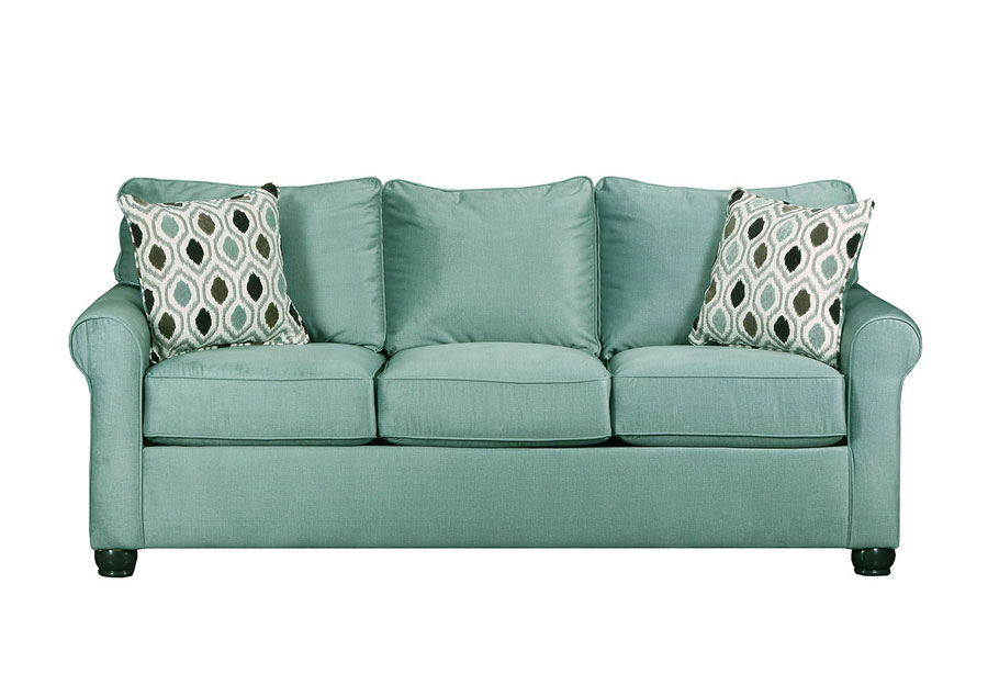 Lane Jojo Spa Sofa With Preston Mocha pillows