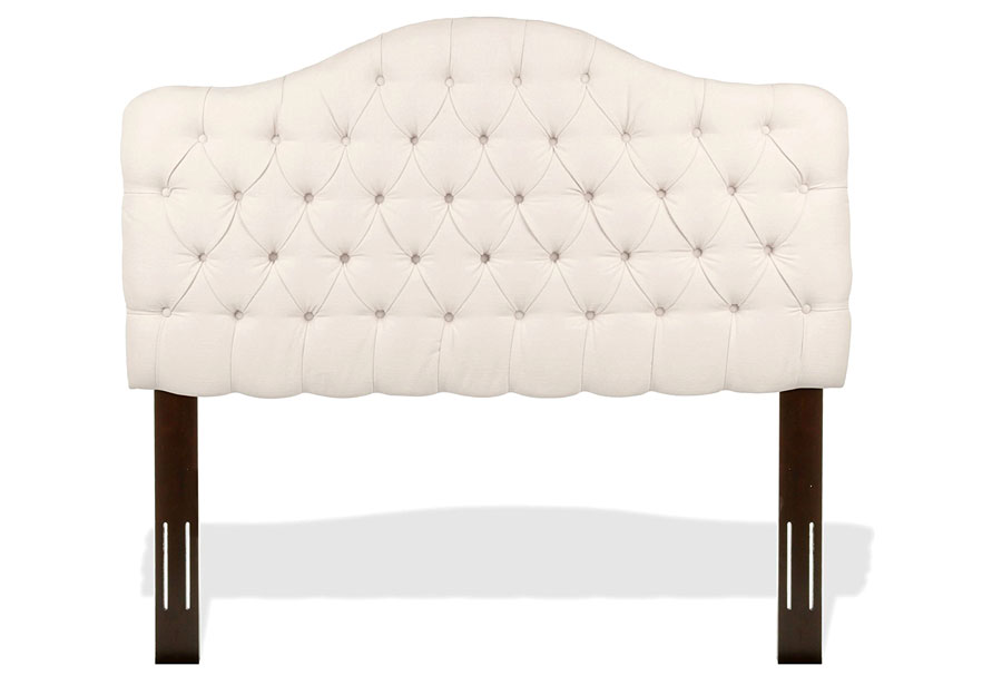 Leggett and Platt Martinique Ivory King Upholstered Headboard