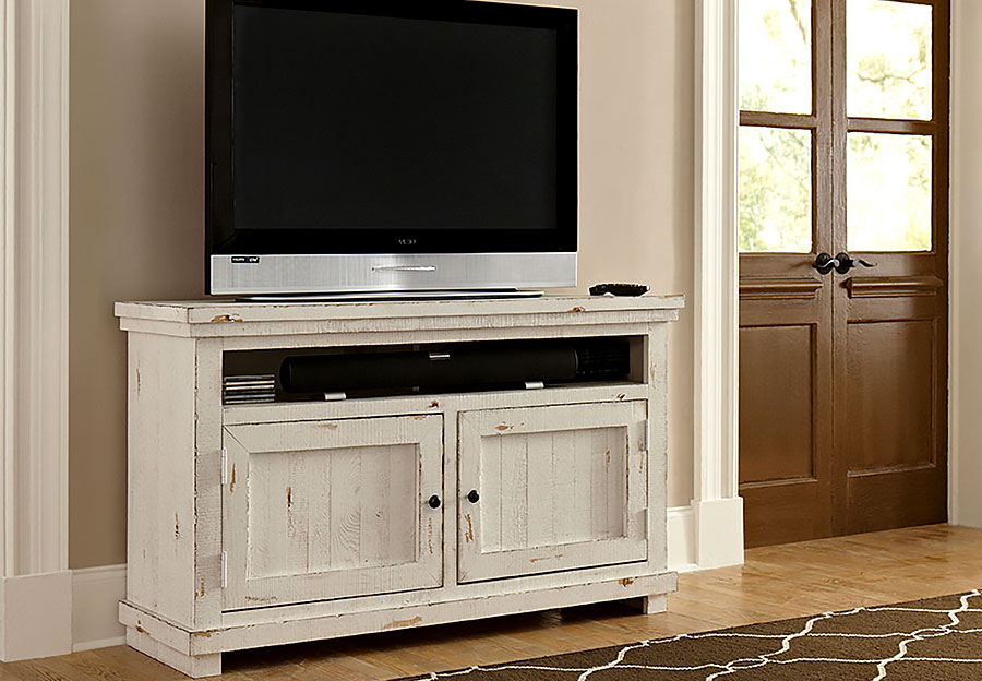 "Progressive Willow White 54"" Console"