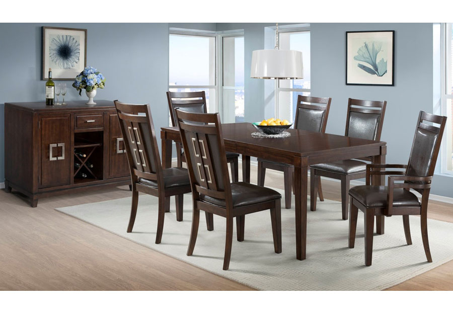 Elements Rodney Espresso Dining Table and Four Side Chairs