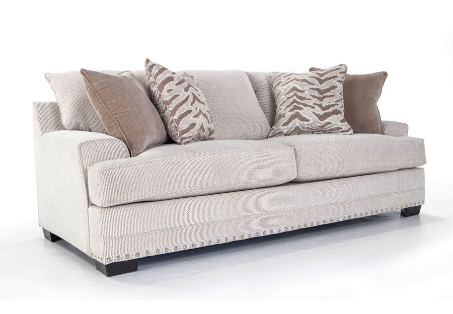 Simmons Beautyrest Sofa Grenada Natural With Symbio Pearl
