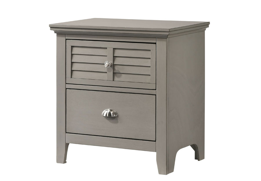 Lifestyles C7313 Grey Two Drawer Nightstand
