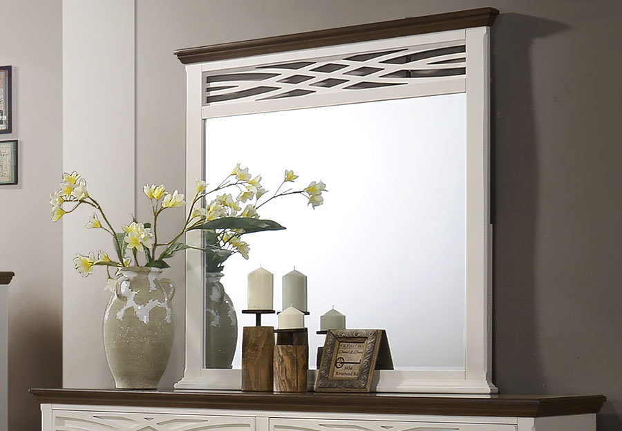 Lane Bellebrooke White Mirror