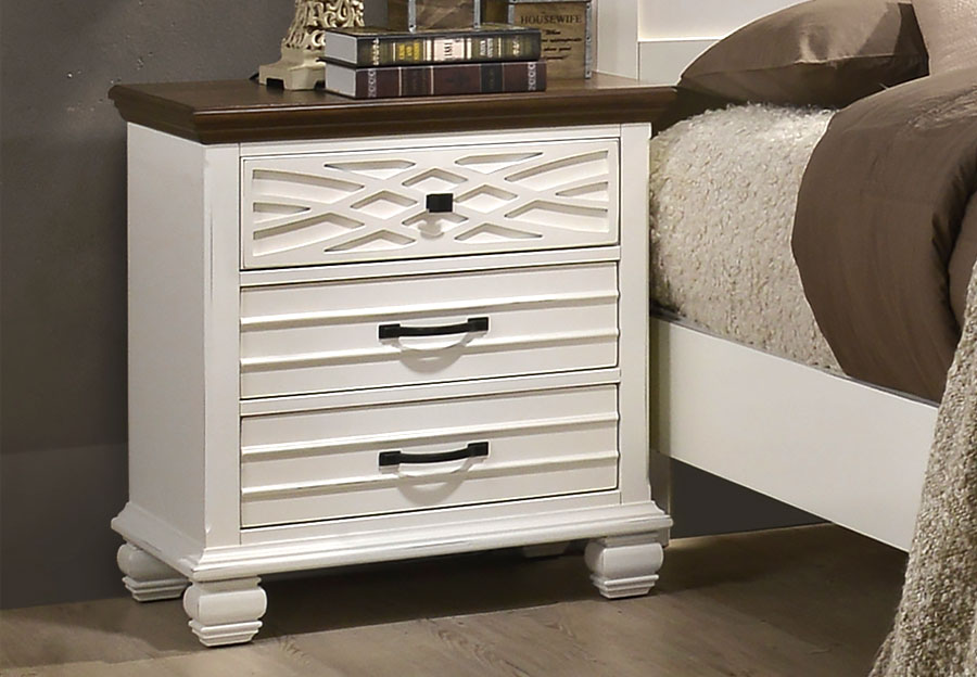Lane Bellebrooke White Two Drawer Nightstand
