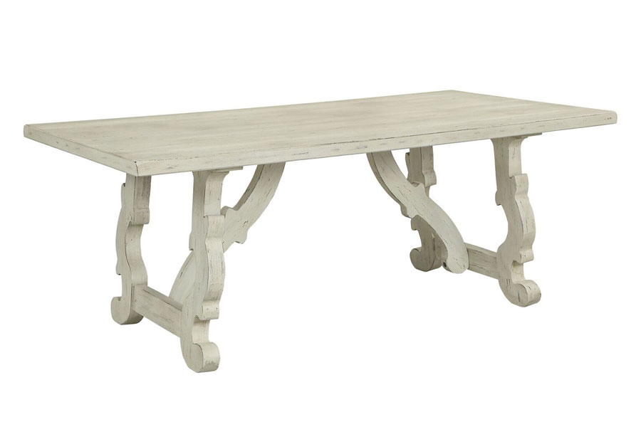 Coast To Coast Orchard White Rub Dining Table